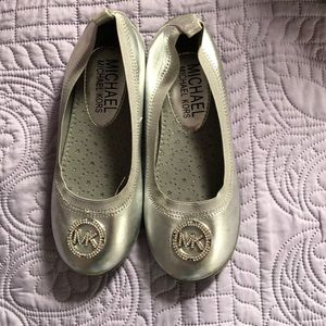 Silver slip on shoes